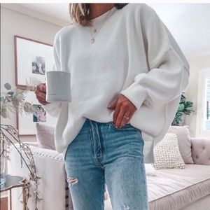 Free people easy street tunic sweater white small